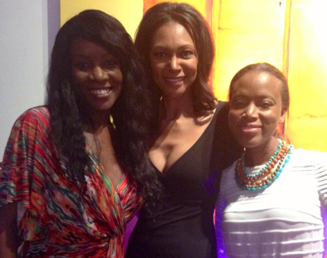 Dee Doanes with motivational speaker, Chloe Taylor Brown and Lisa Washington, from the Food Network's All Star Academy